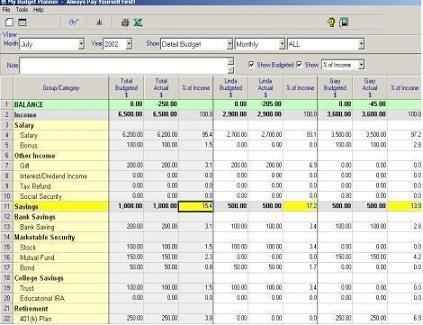 how to create a budget plan on excel